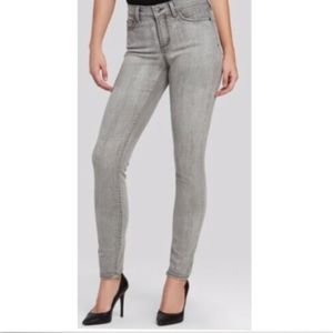 NYDJ Gray Washed Skinny Jeans 12